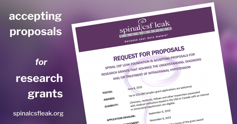 Supporting Research in 2019 | Spinal CSF Leak Foundation